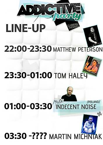 Addictive party 3.11.2012: last info a line-up