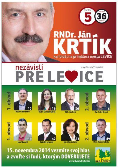 df04ae280a07 RNDr. Ján Krtík - kandidát na primátora mesta Levice č. 5 a poslanca ...