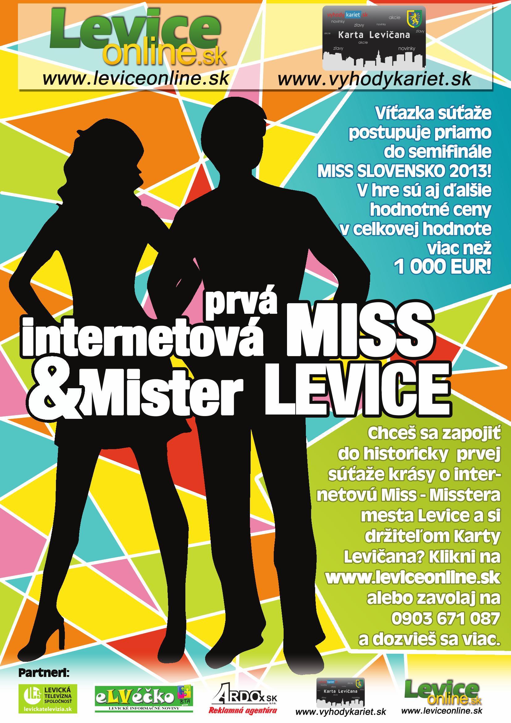 Hľadá sa historicky PRVÁ INTERNETOVÁ MISS a MISTER Levice ... 0657e68e6aa