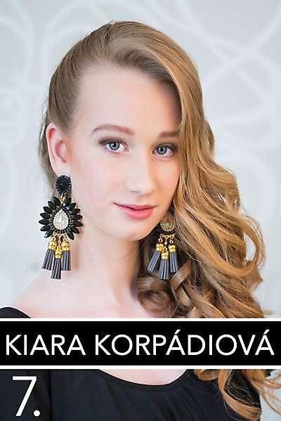 Kiara Korpádiová - finalistka Miss Levického okresu s číslom 7